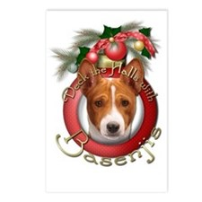 Christmas - Deck the Halls - Basenjis Postcards (P