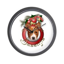 Christmas - Deck the Halls - Basenjis Wall Clock