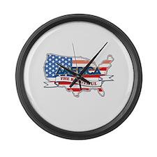 America The Beautiful Large Wall Clock