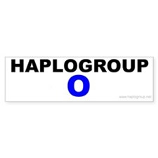 Haplogroup O Bumper Bumper Sticker
