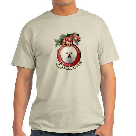 Christmas - Deck the Halls - Bichons Light T-Shirt