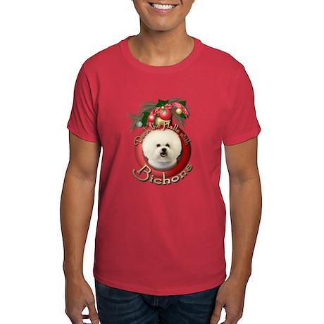 Christmas - Deck the Halls - Bichons Dark T-Shirt