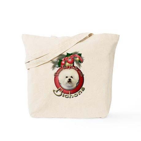 Christmas - Deck the Halls - Bichons Tote Bag