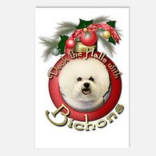 Christmas - Deck the Halls - Bichons Postcards (Pa