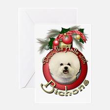 Christmas - Deck the Halls - Bichons Greeting Card