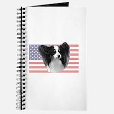 Tri Color Papillon w/ US Flag Journal