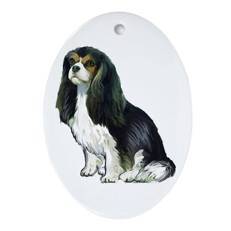 Black and tan Cavalier Ornament (Oval)