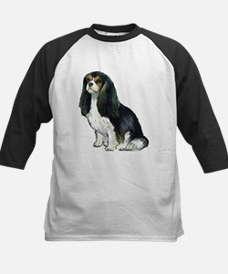 Black and tan Cavalier Kids Baseball Jersey