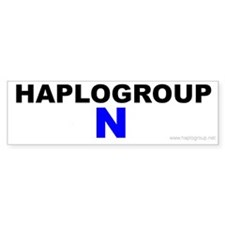 Haplogroup N Bumper Bumper Sticker