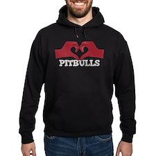 Heart for Pitbulls Hoodie