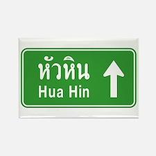 Hua Hin Highway Sign Rectangle Magnet