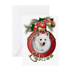Christmas - Deck the Halls - Eskies Greeting Card