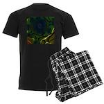 Japan Fractal Men's Dark Pajamas