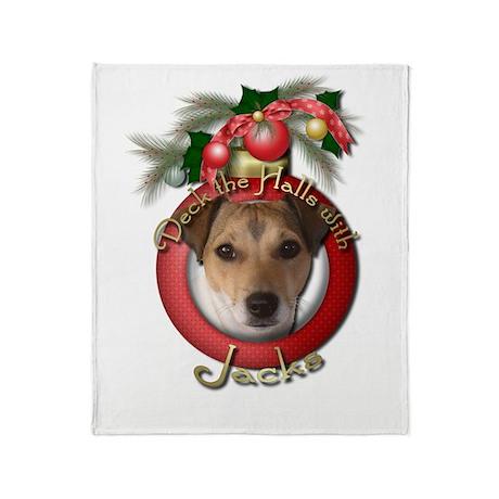 Christmas - Deck the Halls - Jacks Throw Blanket