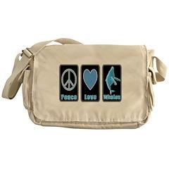 Peace Love Whales Messenger Bag
