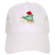 Christmas Holiday Tree Frog Baseball Cap
