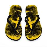 Biohazard yellow Flip Flops