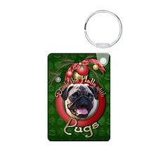Christmas - Deck the Halls - Pugs Keychains