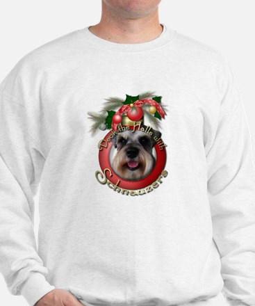 Christmas - Deck the Halls - Schnauzers Sweatshirt