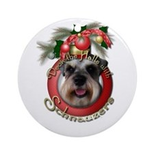 Christmas - Deck the Halls - Schnauzers Ornament (