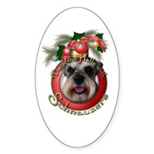 Christmas - Deck the Halls - Schnauzers Decal
