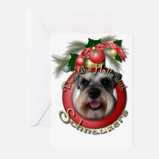 Christmas - Deck the Halls - Schnauzers Greeting C