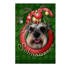 Christmas - Deck the Halls - Schnauzers Postcards