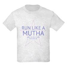 """Run Like a Mutha """"FUN SIZE"""" Light T-Shir"""