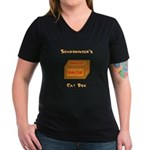 Schrodinger's Cat Box Women's V-Neck Dark T-Shirt