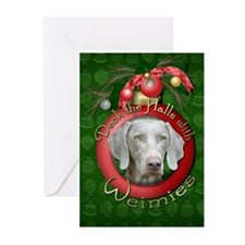 Christmas - Deck the Halls - Weimies Greeting Card