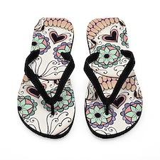Day of the Dead Skull Flip Fl Flip Flops