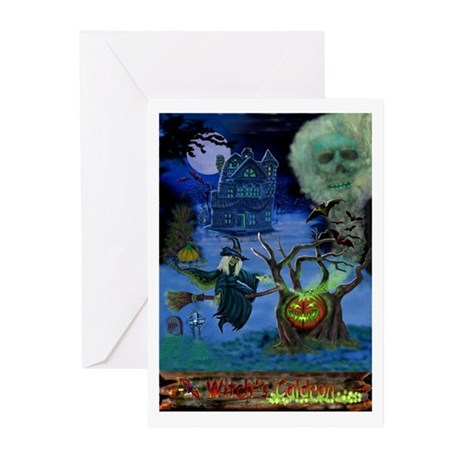 WITCH'S CALDRON Greeting Cards (Pk of 20)