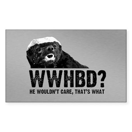 WWHBD Sticker (Rectangle)