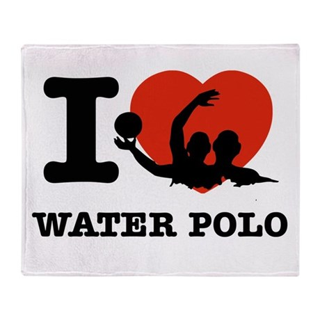 I love Water polo Throw Blanket