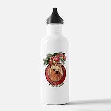 Christmas - Deck the Halls - Yorkies Water Bottle
