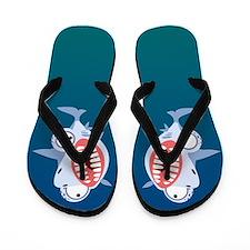 Crazy Shark Flip Flops