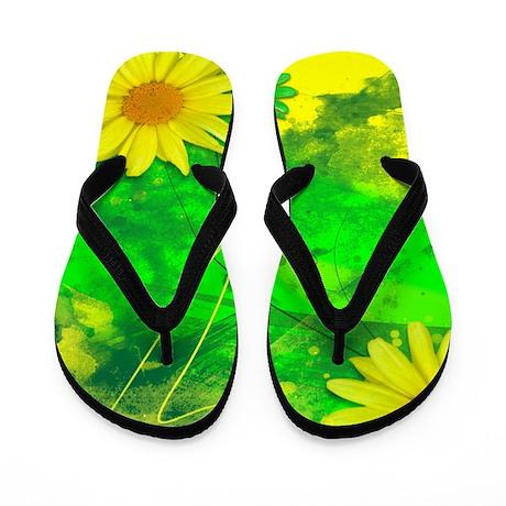 Grunge Daisy Flip Flops