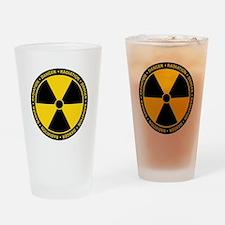 Radiation Warning Drinking Glass