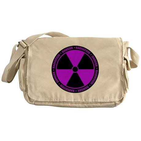 Radiation Symbol (purple) Messenger Bag