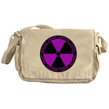 Radiation Symbol (purple) Messenger Bag