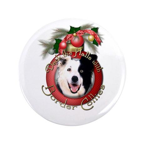 """Christmas - Deck the Halls - Border Collies 3.5"""" B"""