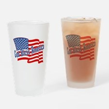 GOD BLESS AMERICA Drinking Glass