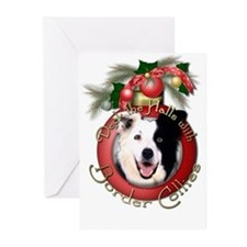 Christmas - Deck the Halls - Border Collies Greeti