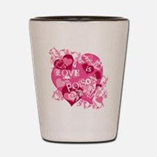 Love is Poison Abstract Shot Glass