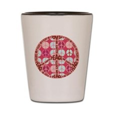 Pink - Peace on Earth Shot Glass