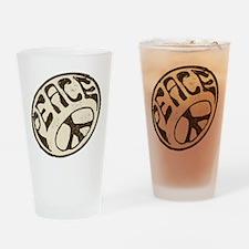 Imagine Peace Sign #V20 Drinking Glass