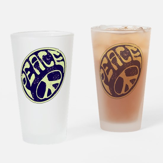 Vintage Peace Symbol #V9 Drinking Glass
