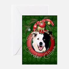 Christmas - Deck the Halls - Border Collies Greeti