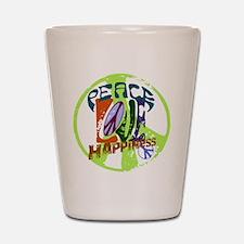 Vintage Peace Shot Glass