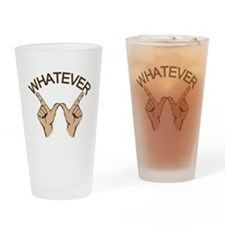 Whatever Hand Gesture Drinking Glass